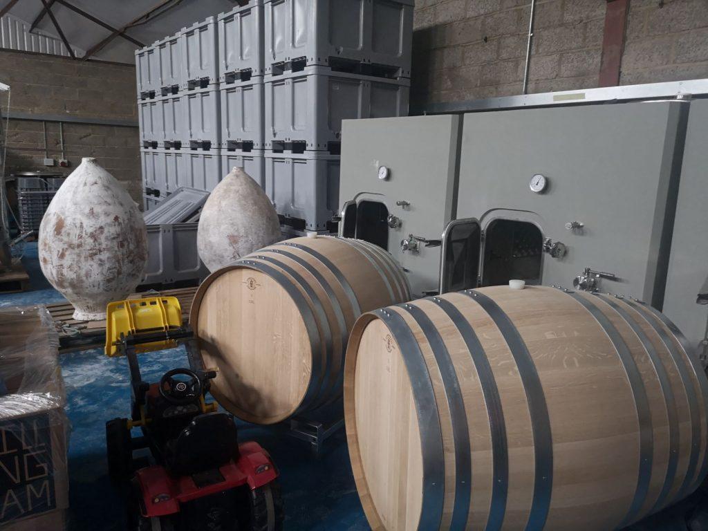 Oak barrels, concrete eggs, qvevris and plastic tubs