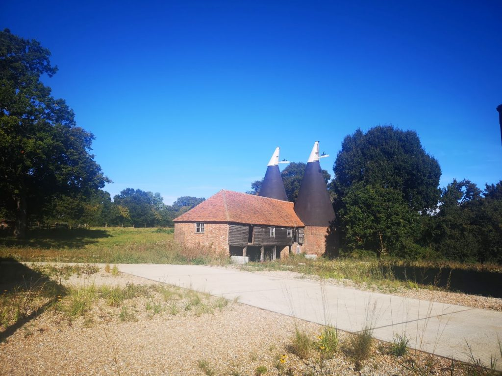 Oast building that houses the Qvevri