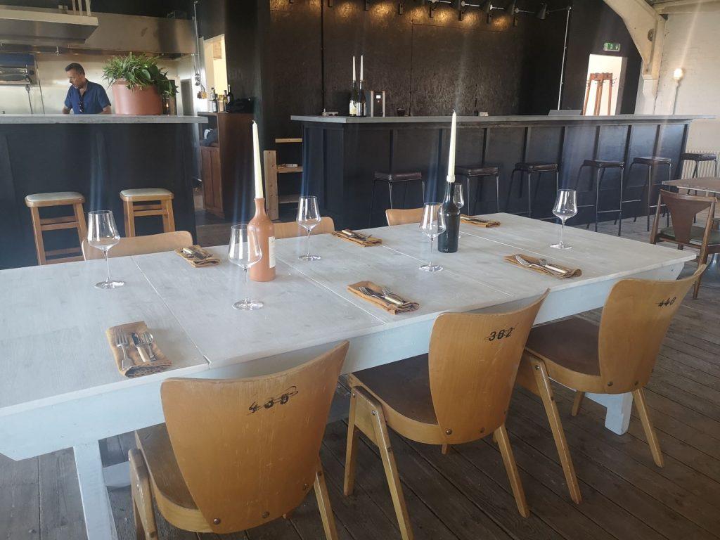 Dining room at Tillingham wines