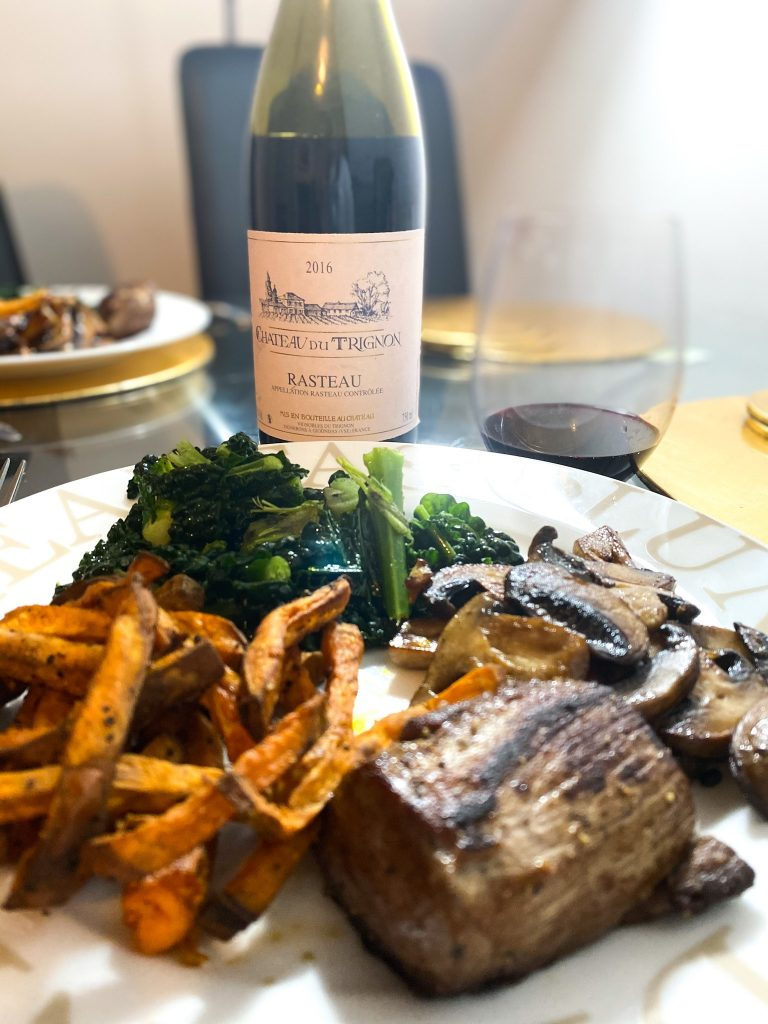 Chateau du Trignon 2017 Rasteau with venison
