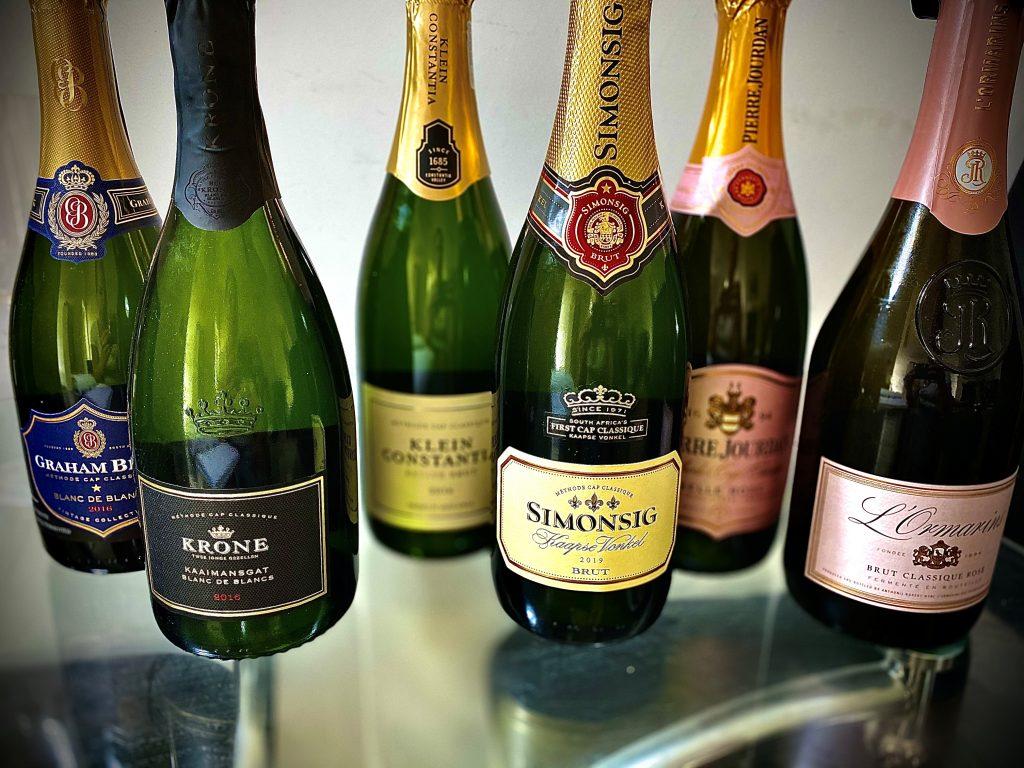 MCC Cap Classique bottles